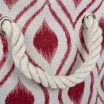 Polyester Storage Bin Ikat Barn Red Rectangle Large 17.5x12x15 - 5