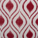 Polyester Storage Bin Ikat Barn Red Round Large 15x16x16 - 5