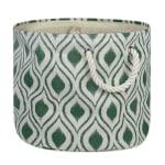 Polyester Storage Bin Ikat Artichoke Round Large 15x16x16 - 2