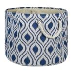 Polyester Storage Bin Ikat French Blue Round Large 15x16x16 - 2