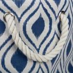 Polyester Storage Bin Ikat French Blue Round Large 15x16x16 - 5