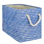 Polyester Storage Bin Keeping Score Bright Blue Rectangle Large 17.5x12x15 - 2