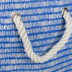 Polyester Storage Bin Keeping Score Bright Blue Rectangle Large 17.5x12x15 - 3