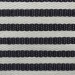 Paper Storage Bin Pinstripe Black Rectangle Medium 15x10x12 - 4