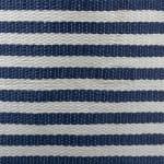 Paper Storage Bin Pinstripe Nautical Blue Rectangle Large 17x12x12 - 8