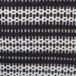 Paper Storage Bin Basketweave Black/White Rectangle Medium 15x10x12 - 5