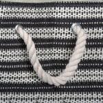 Paper Storage Bin Basketweave Black/White Rectangle Medium 15x10x12 - 6