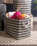 Paper Storage Bin Basketweave Black/White Rectangle Medium 15x10x12 - 7