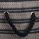 Paper Storage Bin Basketweave Stone/Black Rectangle Medium 15x10x12 - 5