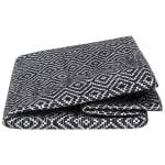 Paper Storage Bin Diamond Basketweave Black/White Rectangle Medium 15x10x12 - 4