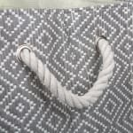 Paper Storage Bin Diamond Basketweave Stone/Black Rectangle Large 17x12x12 - 6