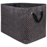 Paper Storage Bin Diamond Basketweave Gray/White Rectangle Large 17x12x12 - 2
