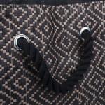 Paper Storage Bin Diamond Basketweave Gray/White Rectangle Large 17x12x12 - 3