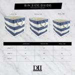 Paper Storage Bin Diamond Basketweave Gray/White Rectangle Large 17x12x12 - 5
