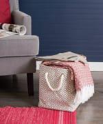 Paper Storage Bin Diamond Basketweave Gray/White Rectangle Large 17x12x12 - 9