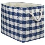 Paper Storage Bin Checkers Navy Rectangle Medium 15x10x12 - 2