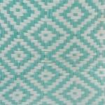 Paper Storage Bin Geo Diamond Aqua Round Medium 13.75x13.75x17 - 4