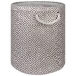 Paper Storage Bin Geo Diamond Stone Round Large 20x15x15 - 2