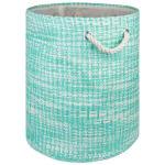 Paper Storage Bin Tweed Aqua Round Medium 13.75x13.75x17 - 2