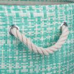 Paper Storage Bin Tweed Aqua Round Medium 13.75x13.75x17 - 4