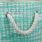 Paper Storage Bin Tweed Aqua Rectangle Large 17x12x12 - 4