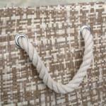 Paper Storage Bin Tweed Stone Rectangle Large 17x12x12 - 4