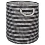 Paper Storage Bin Basketweave Black/White Round Medium 13.75x13.75x17 - 2