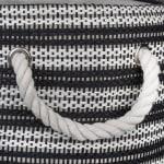 Paper Storage Bin Basketweave Black/White Round Medium 13.75x13.75x17 - 3