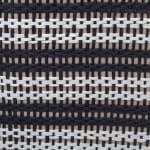Paper Storage Bin Basketweave Black/White Round Large 20x15x15 - 5