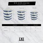 Paper Storage Bin Basketweave Black/White Round Large 20x15x15 - 7