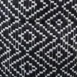 Paper Storage Bin Diamond Basket weave Black/White Round Medium - 3