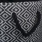 Paper Storage Bin Diamond Basket weave Black/White Round Medium - 4