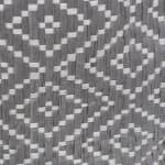 Paper Storage Bin Diamond Basketweave Stone/Black Round Large 20x15x15 - 3