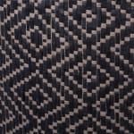 Paper Storage Bin Diamond Basketweave Gray/White Round Large 20x15x15 - 3