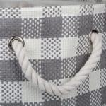 Paper Storage Bin Checkers Gray Round Medium 13.75x13.75x17 - 3