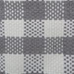 Paper Storage Bin Checkers Gray Round Medium 13.75x13.75x17 - 4