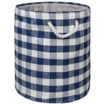 Paper Storage Bin Checkers Navy Round Medium 13.75x13.75x17 - 2
