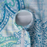 Blue Watercolor Paisley Print Outdoor Tablecloth With Zipper 60 Round - 4