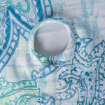 Blue Watercolor Paisley Print Outdoor Tablecloth With Zipper 60x120 - 3