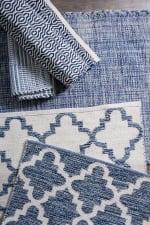 Blue Lattice Hand-Loomed Rug 4x6-ft - 4