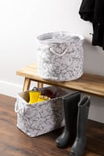 Polyester Storage Bin Marble White Rectangle Large 17.5x12x15 - 4