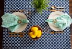 Nautical Blue Lattice Tablecloth 60x104 - 4