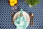 Nautical Blue Lattice Tablecloth 60x104 - 5