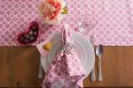 "Pink Rose Geometric 14X72"" Table Runner - 3"