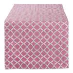 "Pink Rose Geometric 14X72"" Table Runner - 7"