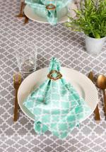 Gray Lattice Tablecloth 60x84 - 3