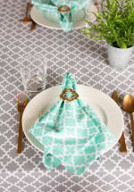Gray Lattice Tablecloth 60x104 - 4
