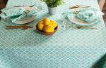 Aqua Lattice Tablecloth 60x104 - 3