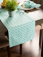Aqua Lattice Table Runner 14x108 - 1