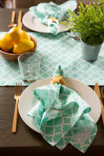 Aqua Lattice Table Runner 14x108 - 5